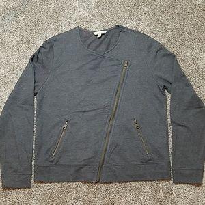 Banana Republic Edgy Side Zip Gray Jacket